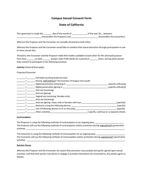 Resume Sample Templates Word by Sexual Consent Form 1 Free Templates In Pdf Word Excel