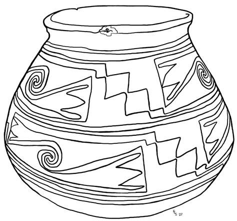coloring earthen pots casas grandes pot coloring page a1936 2 165