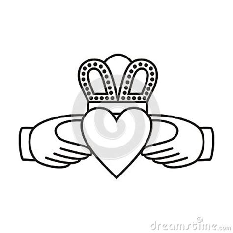 claddagh irish love symbol stock vector image 41067022