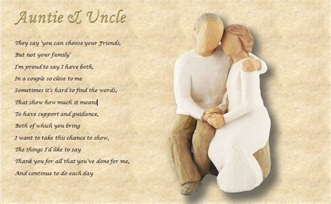 find anniversary gifts for your aunt and uncle auntie uncle personalised poem laminated gift ebay