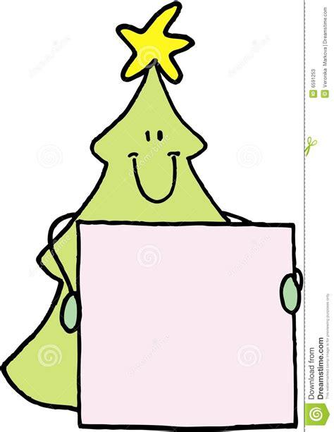 christmas tree name badge stock vector image of season