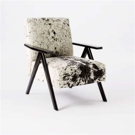 Modern Cowhide Chair - cowhide furniture with a modern twist magazine