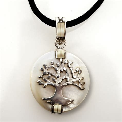 Jewish Jewelry Judaica Tree Of Life Pendant Silver Gold