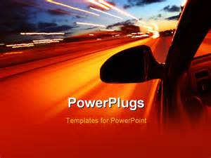 Car Lighting Ppt Best Powerpoint Template Drive Motion Blurred
