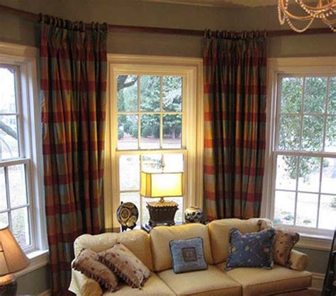 window treatments for bay window in living room living room bay window treatments