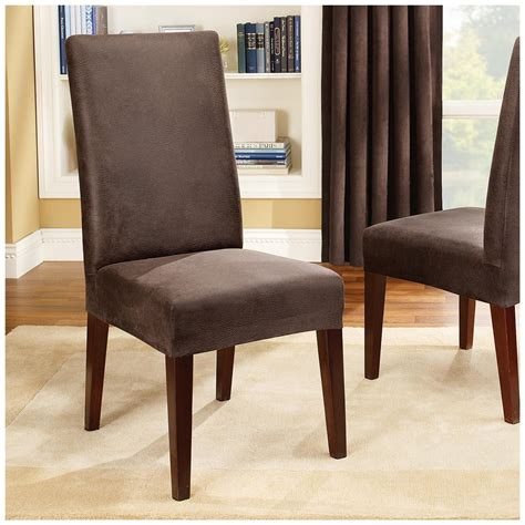 fit stretch leather shorty dining room chair