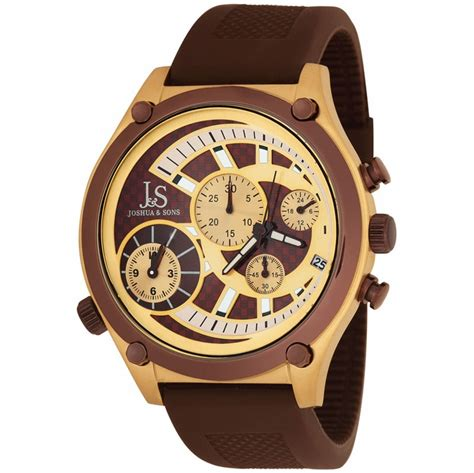 joshua and sons brown and gold layered chrono s