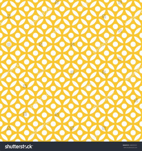 yellow vintage pattern seamless yellow vintage arabic round pattern stock vector