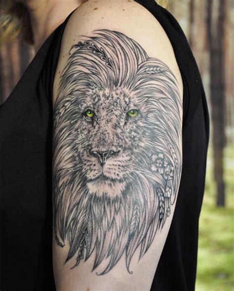 black tattoo art instagram black and gray lion on shoulder instagram