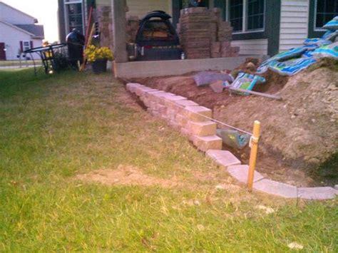diy paver patio slope block patio slope question doityourself community forums
