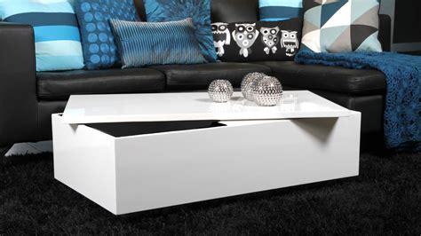 white coffee tables with storage modern rectangular white high gloss coffee table with