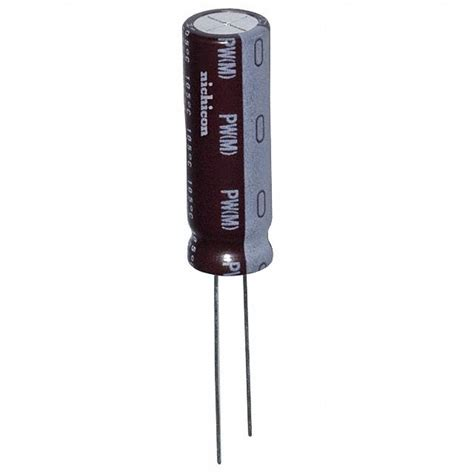 nichicon capacitors pw upw1a222mpd6 nichicon コンデンサ digikey