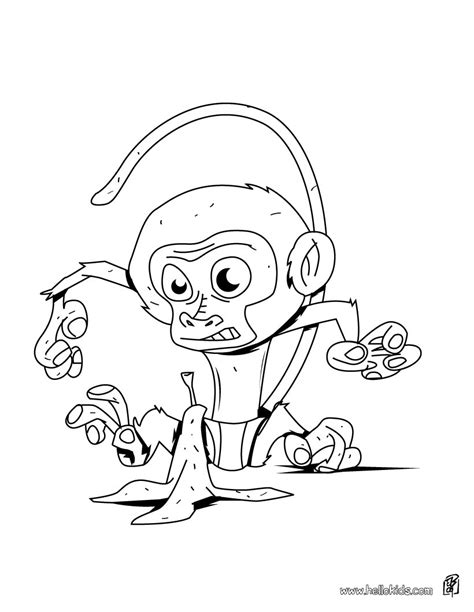 jungle monkey coloring page pics for gt jungle monkey coloring page