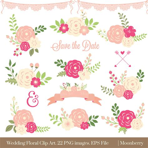 floral wedding clipart floral clipart wedding floral clipart flowers