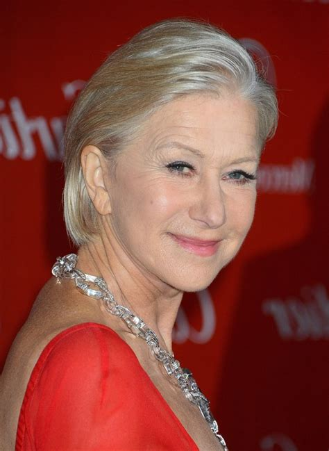 short hair for women with straight hair 60 and over helen mirren short straight hairstyle for women over 60