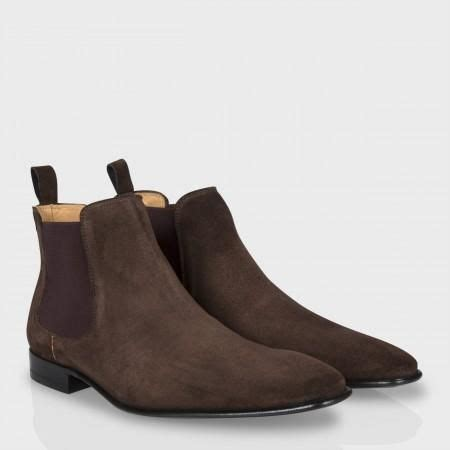brown suede chelsea boots mens handmade brown chelsea suede boot suede ankle