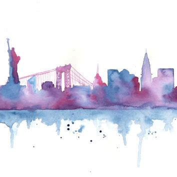 watercolor tattoo new york city original watercolor painting new york from milkfoam my