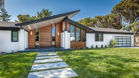 California Bungalow by Mid Century Modern Hillsborough Ca Av Builders