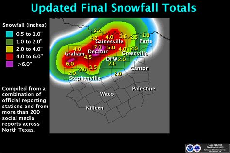 texas snowfall map snow expected texas and dfw on friday 2 27 iweathernet