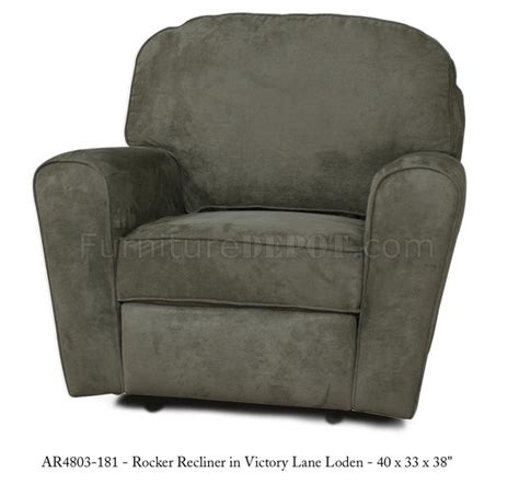 Modern Fabric Recliners by Olive Fabric Modern Rocker Recliner