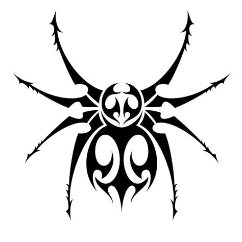 drawing of tribal tattoo 10 stunning tribal spider tattoos only tribal