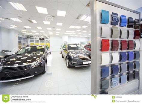 paint shop near me new black cars stand in car shop stock image image 33336531
