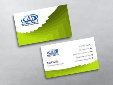 Free Advocare Business Card Template by Advocare Business Cards