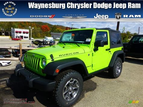 Gecko Green Jeep Wrangler Unlimited For Sale 2013 Jeep Wrangler Rubicon 4x4 In Gecko Green 505943