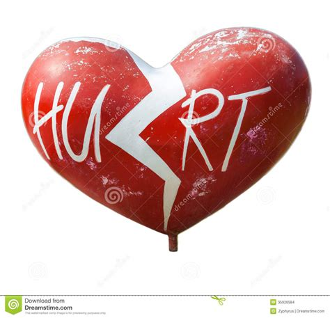 appart of heart splitting or breaking apart stock photo image