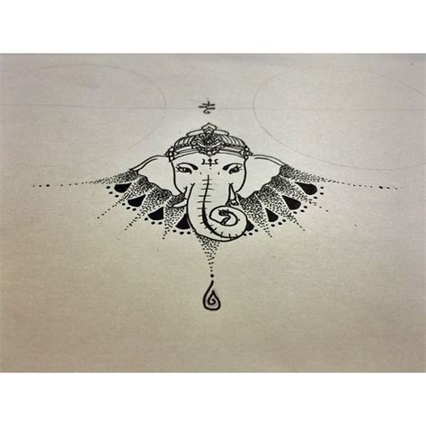 sternum tattoo elephant under breast tattoo ganesh geometric tattoo tattoo