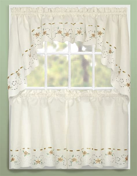 kitchen curtain swags rachael kitchen curtains taupe united curtains jabot