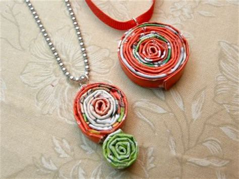 Paper Jewellery Materials - how to recycle magazines into jewelry craftstylish