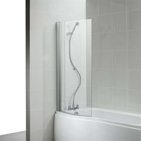 shower bath screens ideal standard alto sliver curved shower bath screen