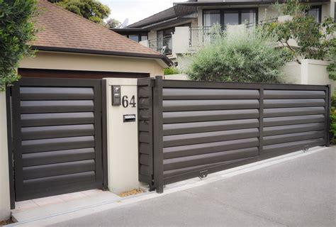 fences and gates design louvre gates horizontal
