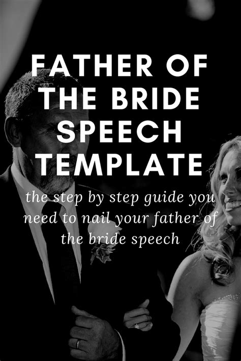 father of the bride speech template wedding speeches and