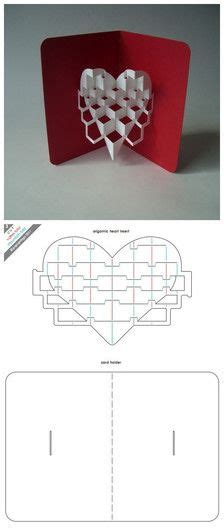 Pattern Pop Up Heart | 255 best images about cards with pop ups on pinterest