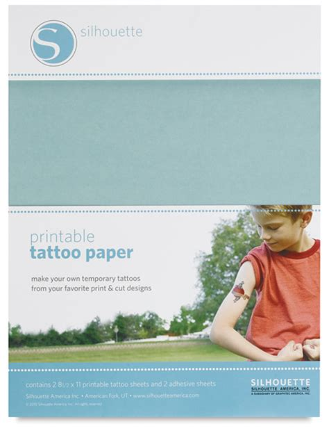 removable tattoo paper silhouette temporary paper blick materials