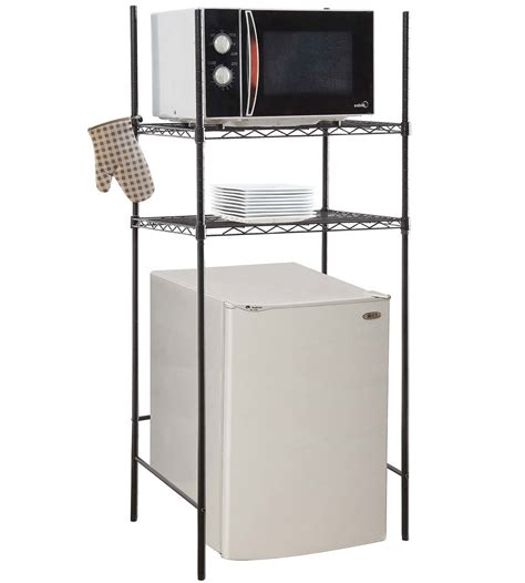 mini fridge and mini fridge and microwave rack in kitchen furniture