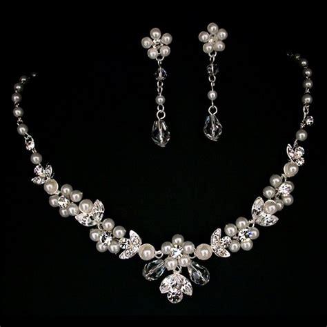 twilight designs pearl bridal jewellery necklace set tls1532