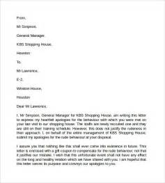 Sle Apology Letter For Rude Behavior Pin Letter Apology For Missed Appointment Ajilbabcom Portal On