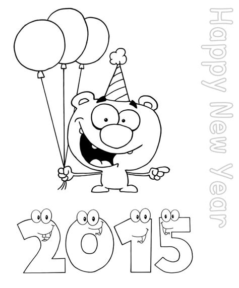 happy new year coloring pages preschool happy new year worksheets for kindergarten coloring