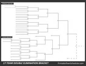 Elimination Tournament Bracket Template by Printable 17 Team Elimination Bracket