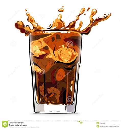 drink vector splashing cola soft drink vector illustration stock