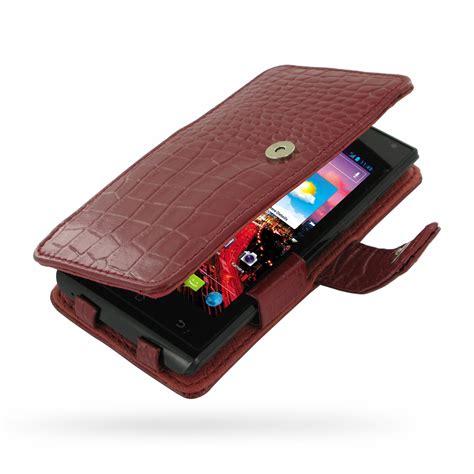 Huawei Ascend P2 Flipcase Flipcover Leather Flip Cover Casing huawei ascend p1 xl leather flip cover croc pattern