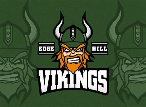 graphic design edge hill edge hill vikings logo re design on behance