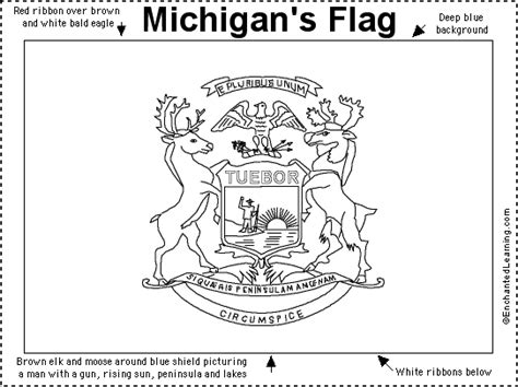 michigan flag printout enchantedlearning com