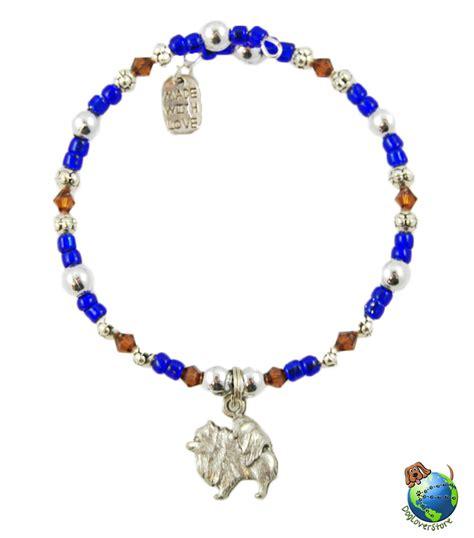 Bracelets Beaded Handmade - pomeranian beaded charm bracelet silver handmade