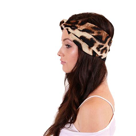 Headband Baby Leopard 2 leopard turban headband earwarmer on luulla