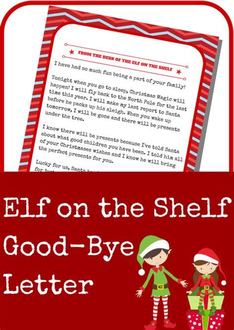 elf   shelf good bye letter  grande life