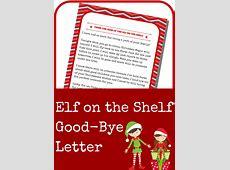 Elf on the Shelf Good-Bye Letter - A Grande Life Elf On The Shelf Ideas For Kids